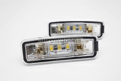 Ford Focus 98-04 White LED Number Plate License Lights Lamps Set Pair