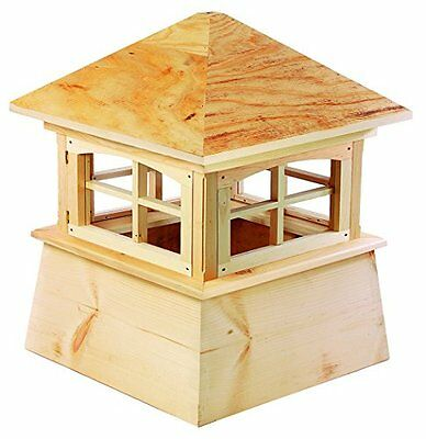 "2118B Brookfield Cyprus Wood Cupola With Wood Roof- 18"" Square X 22"" High"