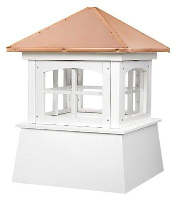 "2118Hv Huntington Pvc Vinyl Cupola With Copper Roof- 18"" Square X 25"" High"