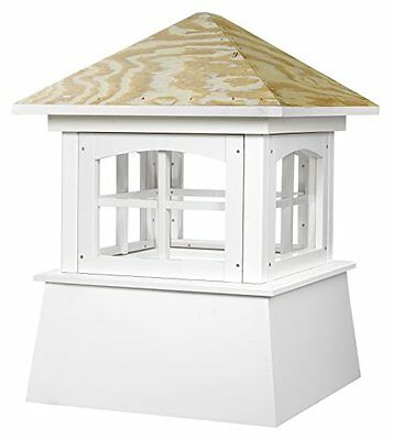 "2142Bv Brookfield Pvc Vinyl Cupola With Wood Roof- 42"" Square X 54"" High"