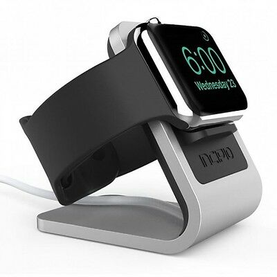 Incipio Docking Station Apple Watch [38/42 mm] Ladestation Dock silber/schwarz