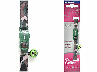 Ancol Camouflage Cat Collar Green