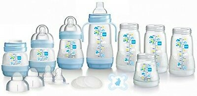 MAM Anti-Colic Self-Sterilising Bottle Starter Set (Blue)