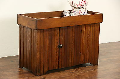 Country Pine Wainscoting 1900 Antique Farmhouse Primitive Dry Sink