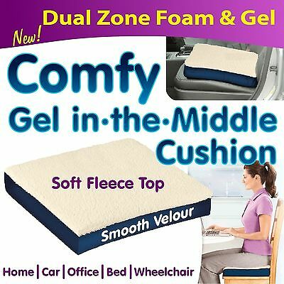Comfy GEL in the Middle Booster  Cushion - Back Lumbar Pain Wheelchair Support