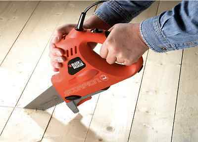 Electric Hand Saw Black & Decker Cut Wood Pipe Log Jigsaw Tool Free Blade Change