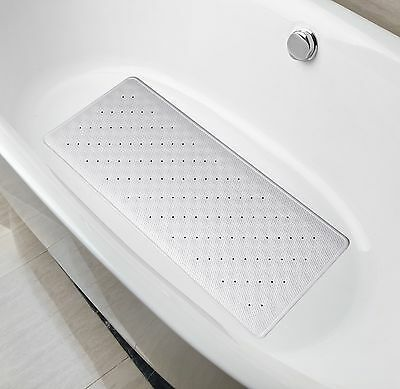 Natural Rubber Mildew Resistant Non Slip Bath Mat 15 W x 33 L InchesFits Any ...