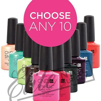 CND SHELLAC UV Color 7.3ml - Any 10: Colours, Base or Top Coats + FREE CND Wraps