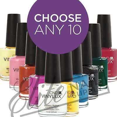 CND VINYLUX Weekly Polish 15ml  Any 10: Colours or Top Coats + FREE SolarOil