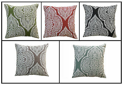 """Cushion Cover Majestic Embroidered Decorative Cushion Covers 18"""" x 18"""" Pack Of 4"""