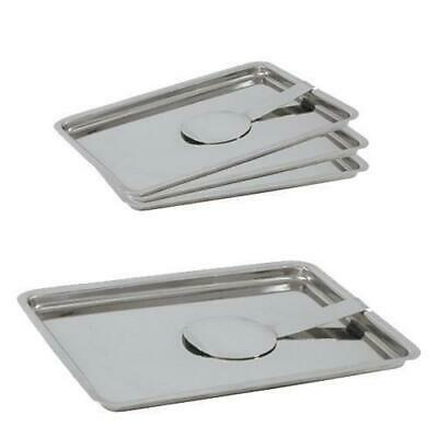 6x Bill Tray, Stainless Steel, 180x135mm, Bill Presenter / Payment Tray