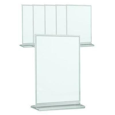 12x Menu Stand Frame Acrylic 190x125mm Clear Display / Menus / Cafe / Restaurant