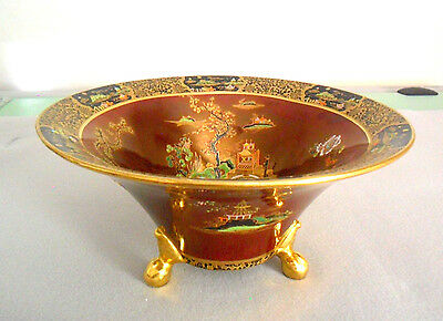 Carlton Ware England W&R Stoke on Trent Large Footed Bowl