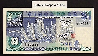 1987 $1 Singapore Banknote - Uncirculated - Pick 18A - B/6 163551