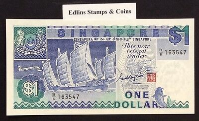1987 $1 Singapore Banknote - Uncirculated - Pick 18A - B/6 163547