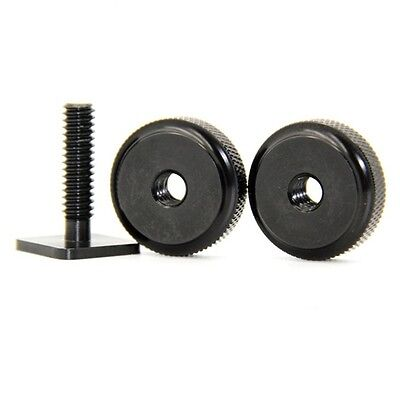 "1/4"" Dual Nuts Tripod Mount Screw To Flash Camera Hot Shoe Adapter Accessory CA"