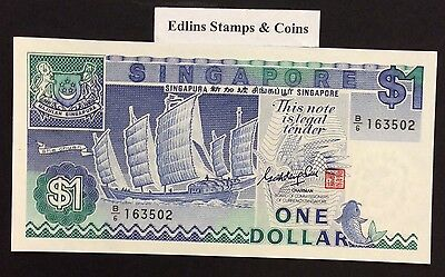 1987 $1 Singapore Banknote - Uncirculated - Pick 18A - B/6 163502