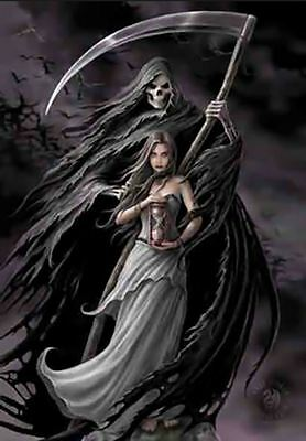 """Summon the Reaper Canvas Plaque by Anne Stokes 10"""" x 7"""""""
