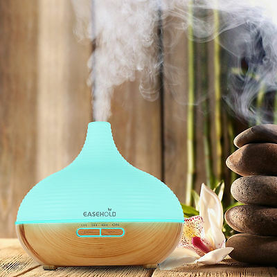 Easehold LED Ultrasonic Aroma Essential Oil Diffuser Air Humidifier For Bedroom