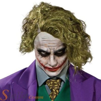 Adult Green Joker Wig Official  Halloween Batman Fancy Dress Costume Accessory