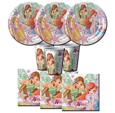 Kit N 2 Compleanno Winx Club Butterflix Feste Bambina Ragazza Party