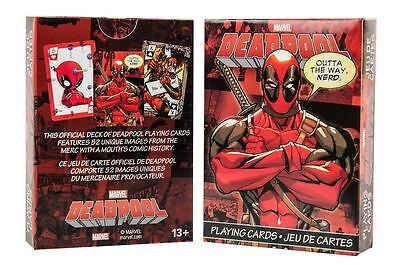 Marvel Comics Deadpool Playing Cards 52 Deck Official