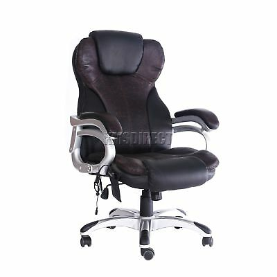 FoxHunter Luxury 6 Point Massage Office Computer Chair Reclining MC8074 Brown
