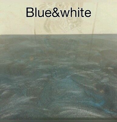 metallic  resin pigments powder royal blue and white marble effect