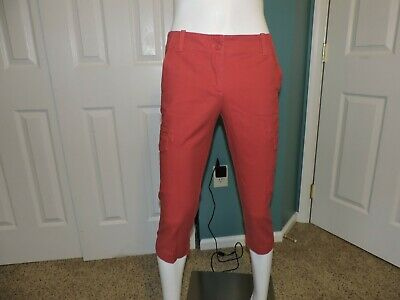 Womens Talbots Signature Petites Crops Capris Coral Salmon Colored Size 4P