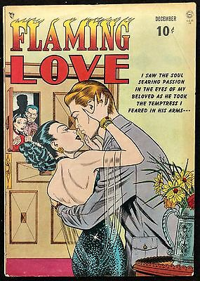 Flaming Love #1 1949 Solid Vg Quality Comics,racy Precode Bill Ward Cover+Story!