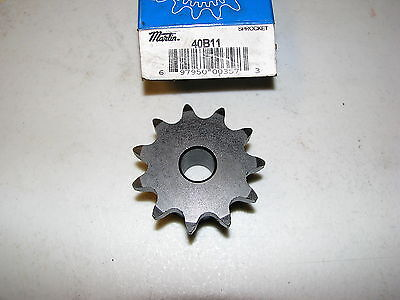 NEW MARTIN Sprocket & Gear 40B11 1/2 in ROUGH STOCK BORE 11T