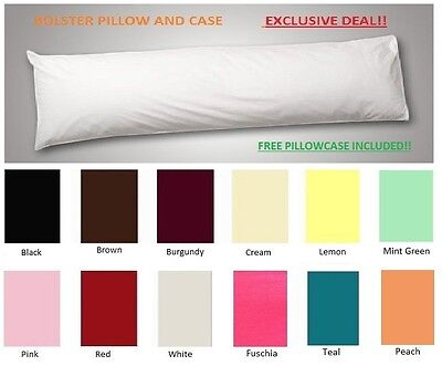 Bolster Pillow With Free Pillowcase /Maternity/Feeding/Laptop Support Pillow