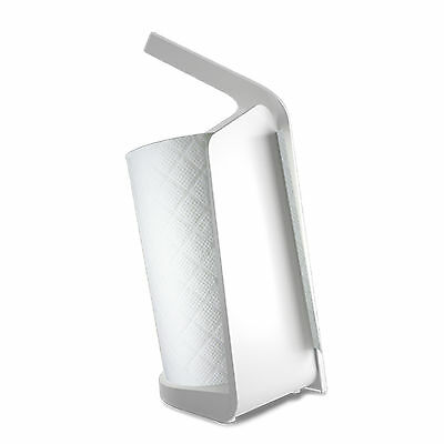 Black and Blum Forminimal Kitchen Roll Holder in White or Grey
