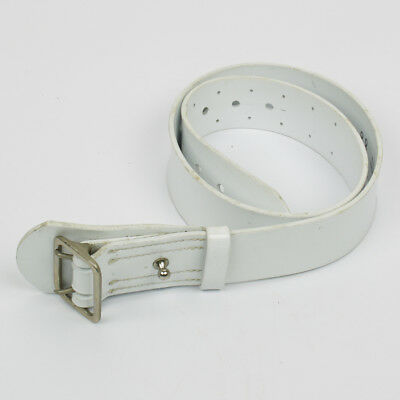 Original French White Pistol Belt - Military Police Issue
