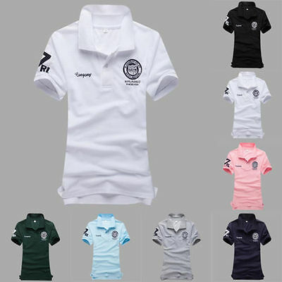 Hombre Deportivo Casual Rugby Camisas Polo Manga Corta Formal Camiseta Suéter
