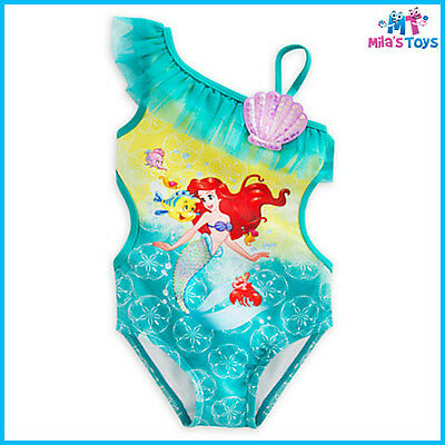 Disney The Little Mermaid Ariel Swimsuit for Girls sizes 3-6 brand new with tags