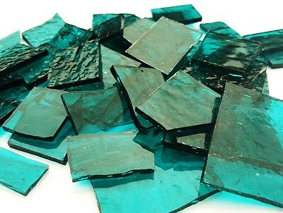 Stained Glass Pieces - 200grams - Transparent Teal