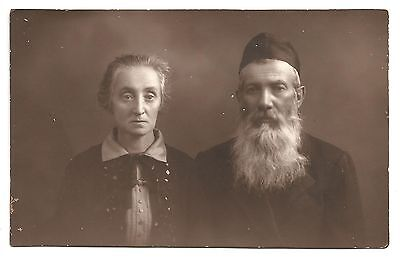 JEWISH COUPLE from WARSAW POLAND REAL PHOTO 20's