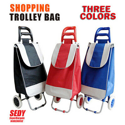 Foldable Shopping Bag Rolling Wheeled Folding Grocery Cart Shopping Trolley Bag