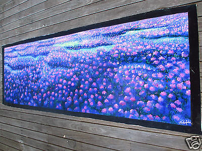 150cm verbena fields  aboriginal art painting canvas australia commission 59""