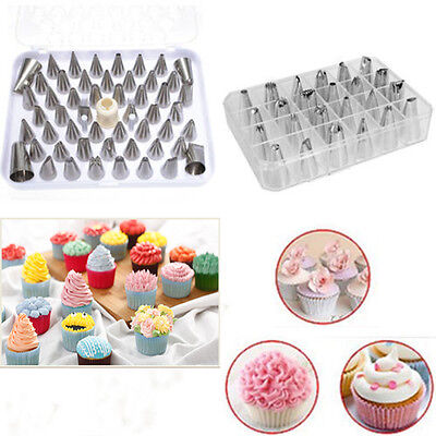 Icing Piping Nozzles Pastry Tips Bags Cake Sugarcraft Decorating Bakery Tools KY