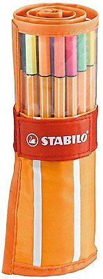STABILO Point 88 30er Rollerset 8830-2 ORANGE  25 + 5 Neonfarben - Fineliner