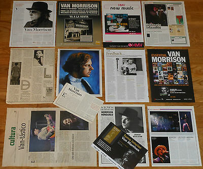 VAN MORRISON clippings 1970s/10s magazine dated articles photos