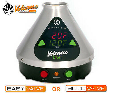 Volcano Digit Vaporizer Vape Full Kit Easy/Solid Valve with UK Plug Only