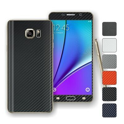 For SAMSUNG Galaxy NOTE 5 3D Textured CARBON Wrap Sticker Decal Protector Skin