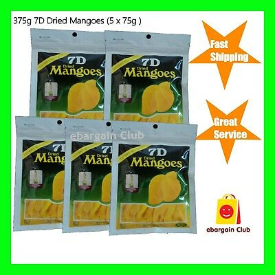 5 x 7D Dried Mango Philippines Mangoes (5 x 80g) eBargainClub