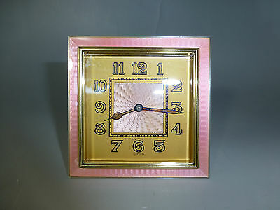 Antique Sterling Silver Guilloche & Enamel Swiss 8 Day Clock (Watch The Video)