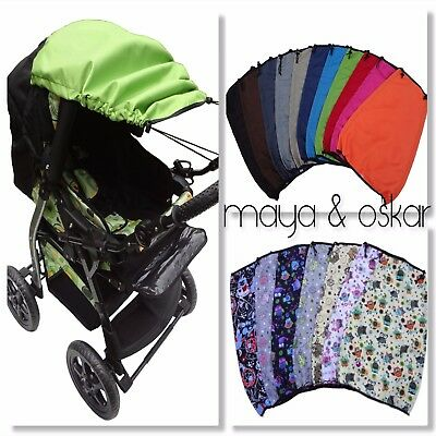Universal Canopy Sun Rain Protection Parasol Umbrella Cover Pushchair Pram Buggy