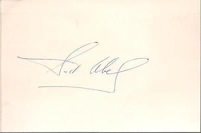 SID ABEL SIGNED 4x6 INDEX CARD REDWINGS AUTO AUTOGRAPH