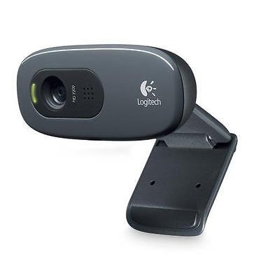 N Logitech C270 HD Pro 3.0MP Webcam with Microphone